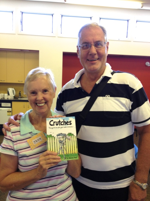 Wayne Paul and me with his book 'Crutches'.