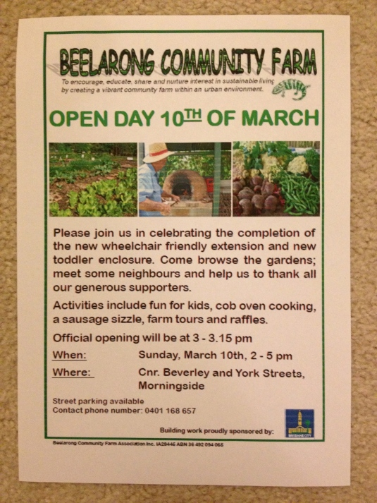 Beelarong open day notice